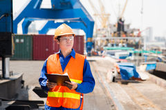 Port superintendent Stock Image