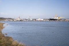 Port sur Amrum Photo libre de droits
