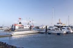 Port sur Amrum Images libres de droits