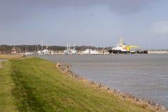 Port sur Amrum Image libre de droits