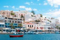Port sur l'île de Naxos Image libre de droits