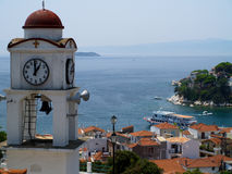 Port sur l'île grecque de Skiathos photos stock