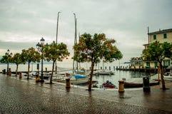 Port sur le lac garda's Photos libres de droits