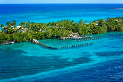 Port sur une île des Bahamas Photos libres de droits