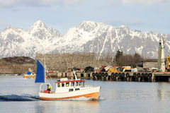 The port of Svolvaer in Lofoten Royalty Free Stock Images