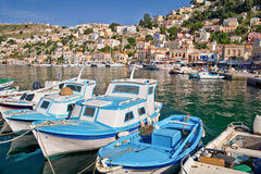Port Symi, Greece Royalty Free Stock Images
