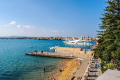 Port Syracuse w Sicily Obrazy Stock