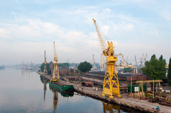 The port of Szczecin aka Stettin in Poland Stock Images