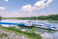 Port of Szentendre on the Danube in Hungary Royalty Free Stock Images