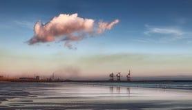 Port Talbot smog Royalty Free Stock Photography