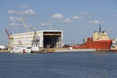 Port Tampa usa Tugboats i zaopatrzeniowi wysyłek naczynia Obraz Stock
