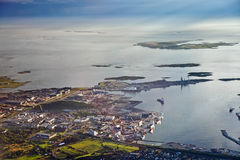Port Tananger seen from above Royalty Free Stock Photos