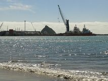 Port taranaki. Summer day at the beach Stock Photography