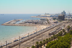 Port of Tarragona. Overview of the Port of Tarragona Stock Image