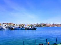 Port Tarragona. Beautiful view of Port Tarragona Stock Photos