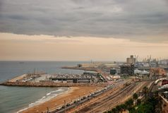 Port of Tarragona of Spain Stock Photo