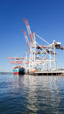 Port of Tauranga container terminal Stock Images