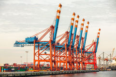 Port terminal for loading and offloading ships Stock Photo