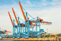 Port terminal for loading and offloading ships Stock Photos