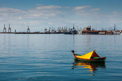 Port of Thessaloniki, Greece. Under the blue sky Royalty Free Stock Images