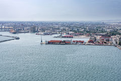 Port of Thessaloniki, Greece, aerial Stock Photos