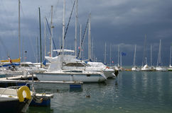 Port of Thonon les Bains in France Stock Photography