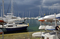 Port of Thonon les Bains in France Royalty Free Stock Image