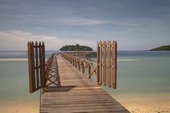 Port till ön royaltyfri foto