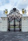Port till Belvedereslotten, Wien royaltyfri bild