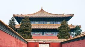 port till den imperialistiska släkt- templet i Pekingstad Royaltyfri Foto