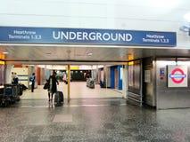 Port till gångtunnelen i london Royaltyfri Bild