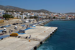 Port of Tinos Island, Cyclades Islands Royalty Free Stock Image