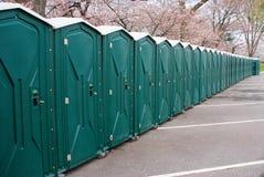 port toalety Zdjęcia Stock