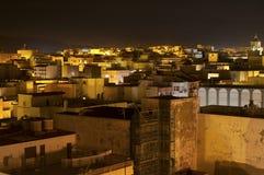 Port Town. Illuminated at dusk royalty free stock photography