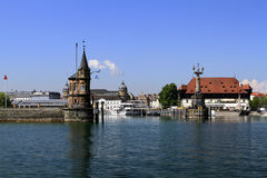 Port in the town on the Bodensee Konstanz Stock Images
