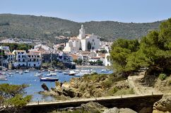 Port and town of Cadaqués in Spain Stock Photos