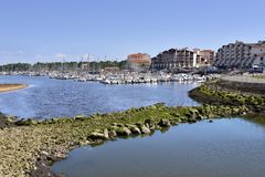 Port of Capbreton in France Stock Image