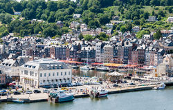 The port town of Honfleur in France. Royalty Free Stock Image