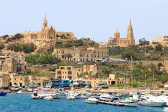 Mgarr, Gozo, Malta. Port town of Mgarr, on the island of Gozo, part of Malta Royalty Free Stock Photography