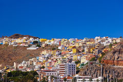 Port and town San Sebastian - La Gomera Island - Canary Stock Image