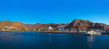 Port and town San Sebastian - La Gomera Island - Canary Royalty Free Stock Photo