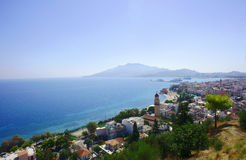 Port and town Zakynthos Royalty Free Stock Photo