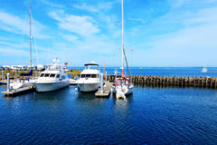 Port Townsend, WA. Downtown marina with boats.