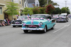 Port Townsend, WA - May 17, 2014: Rhododendron Festival parade. In Port Townsend Stock Images