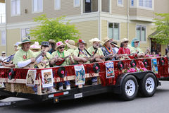Port Townsend, WA - May 17, 2014: Rhododendron Festival parade. In Port Townsend Royalty Free Stock Images