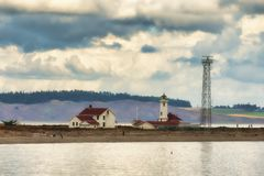 Point Wilson Lighthouse at Fort Worden Royalty Free Stock Images