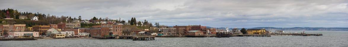 Port Townsend Waterfront Panorama Stock Photos