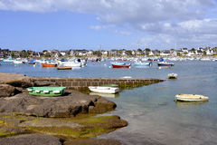 Port of Trégastel in France Royalty Free Stock Images