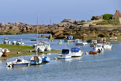 Port of Trégastel in France Royalty Free Stock Image