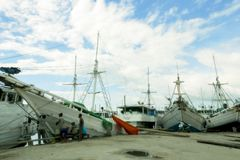 Port traditionnel de Paotere Image stock